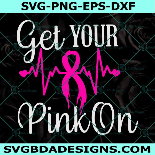 Breast Cancer Svg, heartbeat svg, awareness SVG, cancer survivor svg, Awareness Svg, Cricut, Digital Download