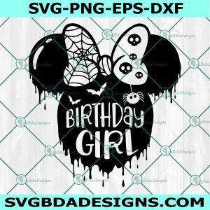 Birthday Girl Svg Minnie birthday svg, Halloween Minnie Svg, Disney Svg, Birthday princess Svg, Cricut, Digital Download