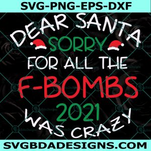 Dear Santa Svg, Christmas Svg, Christmas Ornament Svg, Adult Christmas Svg, Christmas Sayings Svg, Cricut, Digital Download