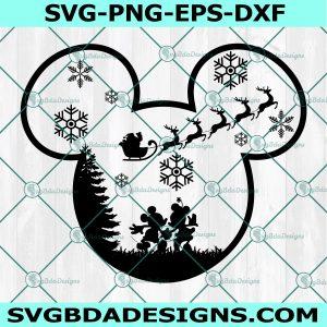 Disney Mickey and Minnie Christmas Svg, Disney Christmas Svg,Mickey Christmas svg, Minnie Christmas svg, Mickey Santa svg,Cricut, Digital Download