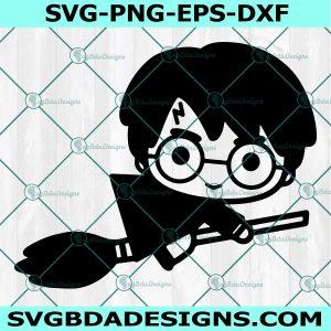 Harry on Broomstick Svg , Harry Potter Svg, Cricut, Digital Download