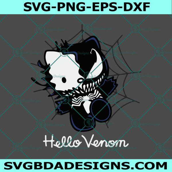 Hello Kitty Venom SVG, Venom CarnageSVG, Hello Kitty Svg, Hello Venom Svg, Marvel Svg, Cricut, Digital Download