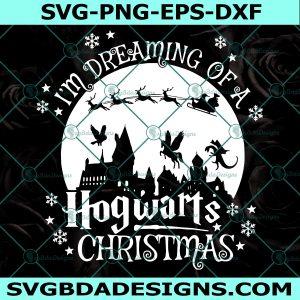 I'm Dreaming Of A Hogwarts Christmas Svg, Hogwarts Christmas Svg, Harry Potter Svg, Cricut, Digital Download