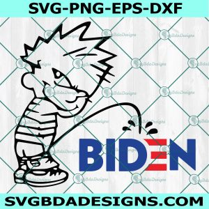 Peeing on Biden Svg, Fuck Biden Svg, Trump Supporter Svg, Peeing Boy svg, Cricut, Digital Download