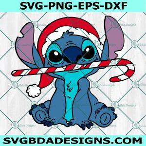 Stitch Merry Christmas Svg, Christmas Cartoon character Svg, Cartoon svg, Merry Christmas svg, Cricut, Digital Download
