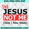 Try Jesus Not Me svg, Jesus svg, Try Jesus svg, God svg, Religious Humor svg, Cricut, Digital Download