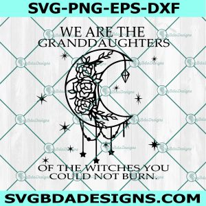 We Are the Granddaughters of the Witches You Could Not Burn Svg, Salem Witch Svg, Mystical Mystic Svg, Cricut, Digital Download